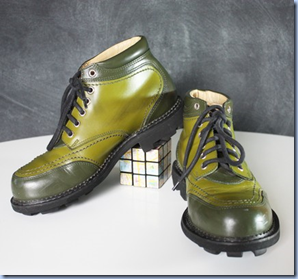 vintage green John Fluevogs on Etsy