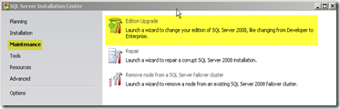 SQL Server License Key Change Edition Upgrade