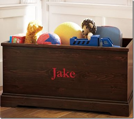 pottery barn toy box