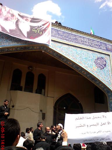 تجمع آرام مردم روزه دار در مسجد قبا