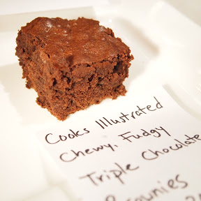 chewy, fudgy, triple chocolate brownie