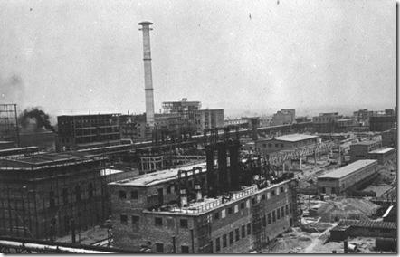 IG Farben factory in Monowitz 1941