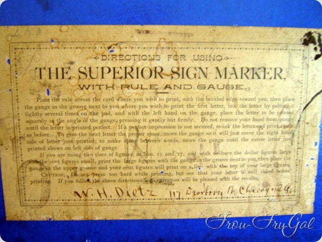 Superior Sign Marker with Rule and Gauge
