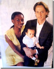 Interracial couple, Nigerian model Oluchi with husband Orlandi and baby