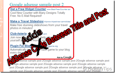 AdSense Code Between Title and Post