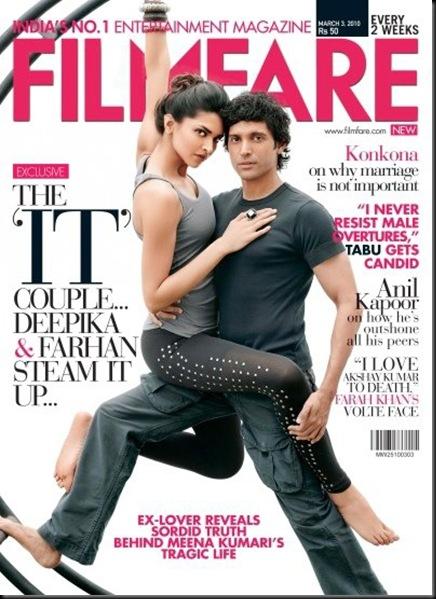 Deepika Padukone & Farhan Akhtar, Deepika Padukone & Farhan Akhtar in yogic pose