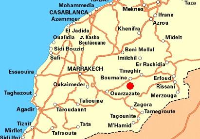 Morocco Map Ouarzazate Ouarzazate region maps