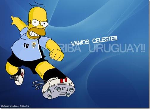 Homero Simpson con importante equipos de Futbol