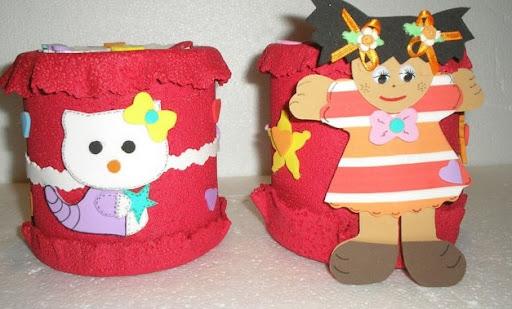 Porta lapiceros con latas recicladas y foami | Jugar y colorear
