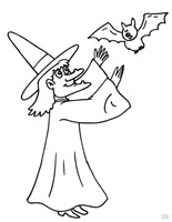 Jugarycolorear.com Witch-with-bat-2