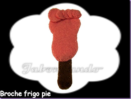 Broche frigo pie