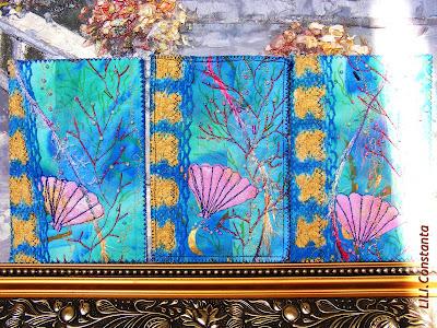 lucru manual carduri textile stropi de mare