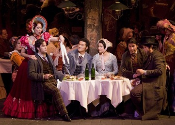 The principal cast of LA BOHÈME [Photo by Corey Weaver]