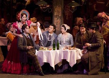 The principal cast of LA BOHÈME [Photo by Corey Weaver]