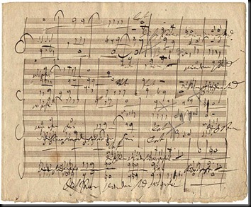 a page from the autograph manuscript of MESSIAH
