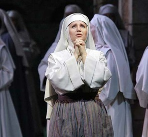 Barbara Frittoli as Suor Angelica in Jack O'Brien's 2007 MET production [Photo by Ken Howard]