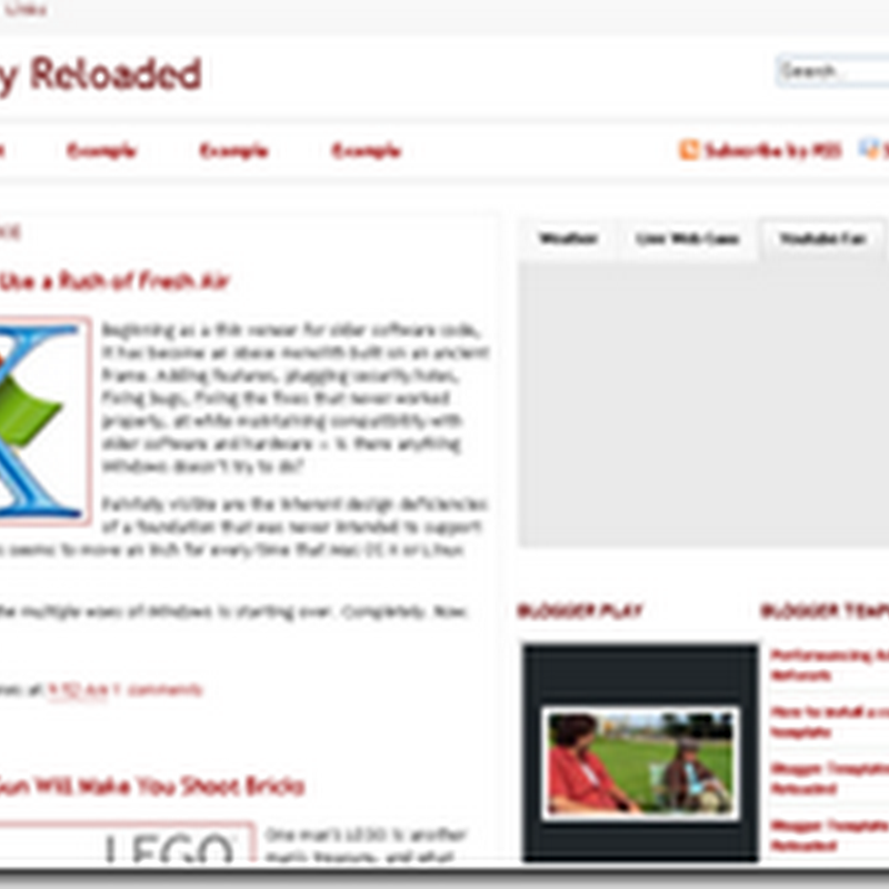 Visionary Reloaded is a magazine style theme for wordpress