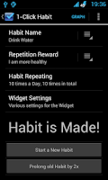 Screenshot of 1-Click Habit Widget