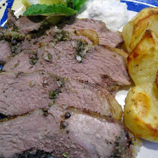 Grilled Butterflied Leg of Lamb with Lemon, Herbs and Garlic