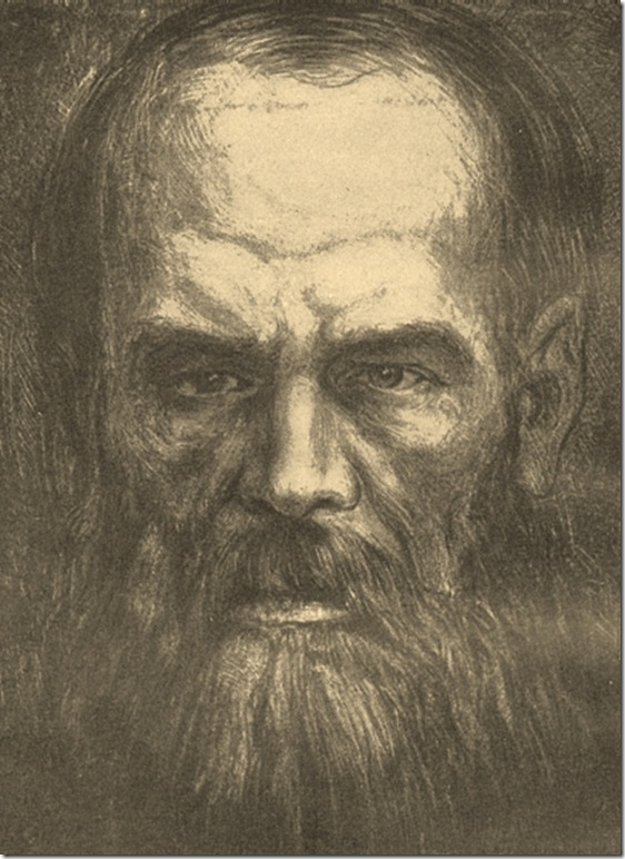 Φιοντόρ Ντοστογιέφσκι, Λιθογραφία του Β. Δ. Φαλαζίεφ, 1921