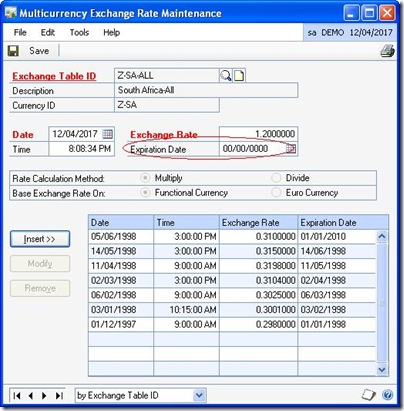 Exchangerateentry