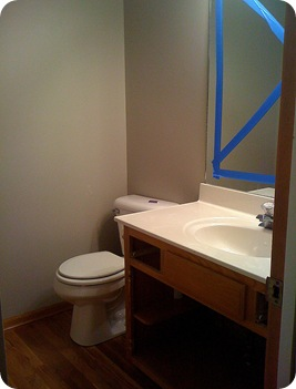 powder room remodel 002