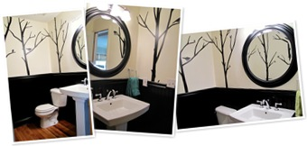 View powder room redo