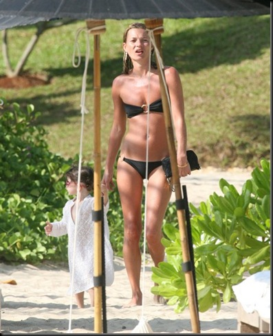 EXCLUSIVE:  Kate Moss Goes Topless in Thailand