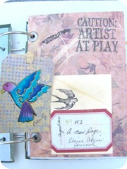 journal a new page 2 with bird tag