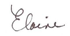 elaine signature