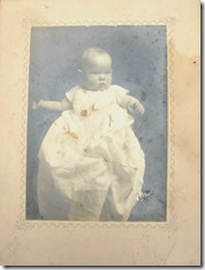 cabinet card baby with red x
