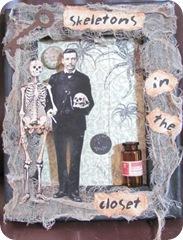 halloween skeleton frame.dawnv