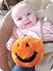 bella with pumpkin10.17.10
