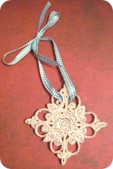 AAWA 12 day swap 9 star quilled ornament
