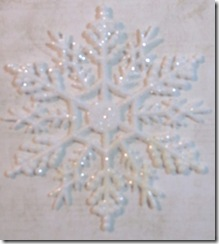 snowflake ornament plain