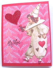 valentine be mine clown card