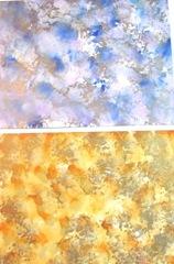 polished stone blue and orange