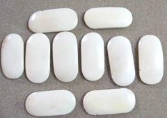 bone oval beads
