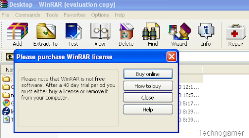 winrar evaluation copy
