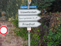 Alle Wege fhren nach rechts (Hohenwettersbach, Baden-Wrttemberg, Germany) Photo