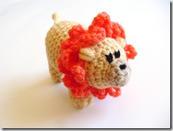 Liam Lion Amigurumi  (handmade, yarn, plush crocheted doll)