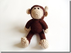 Monty Monkey Amigurumi  (handmade, yarn, plush crocheted doll)