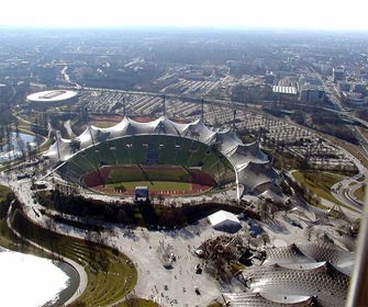 arquitectura-High-Tech-Estadio-Olímpico-de-Múnich-de-Günther-Benisch-Alemania