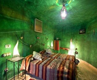 habitacion Verde hotel cueva
