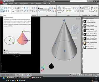 Curso autocad 3D online Solids - Cone