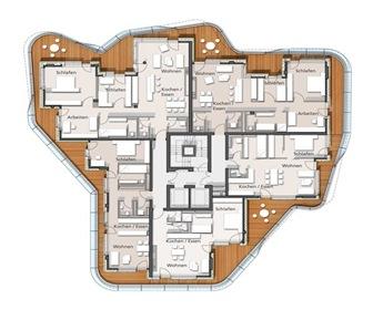 Planta-Proyecto-Torre-Marco-Polo-Behnisch-Architekten
