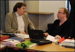 Marco de Niet (DEN) en Marius Snyders (Beeld en Geluid)