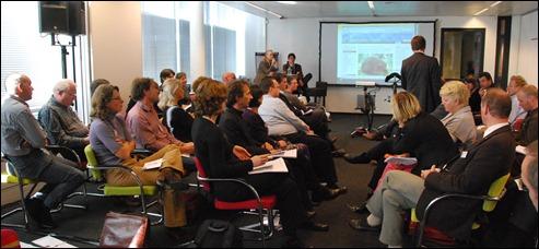 Parallelsessie Collectievorming, met aan de paneltafel achterin Riemer Knoops (Raad voor Cultuur) en Maarten Schenk (Utrecht)