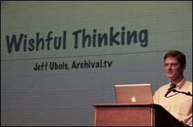 Jeff Ubois: The public has no access to long-term archiving. Foto De Balie