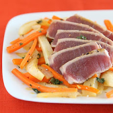 Seared Tuna with Braised Fennel & Carrots